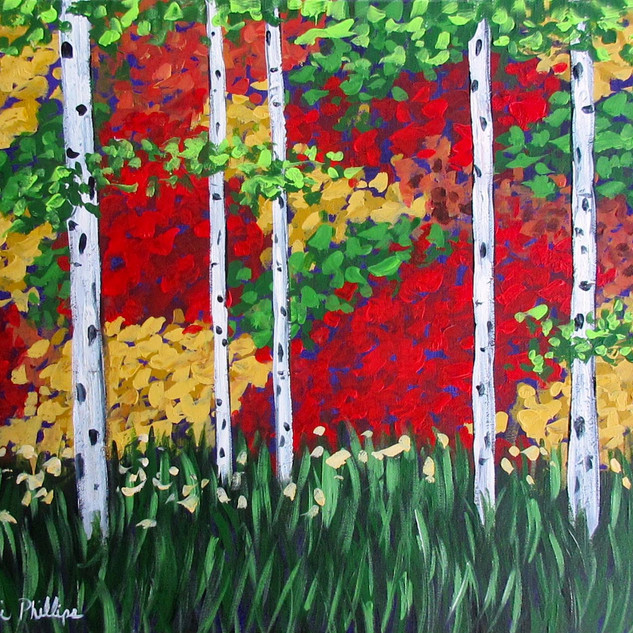 Fall Birch Trees - Painting Party