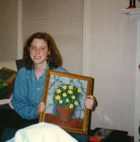 Me at 16 with one of my first paintings