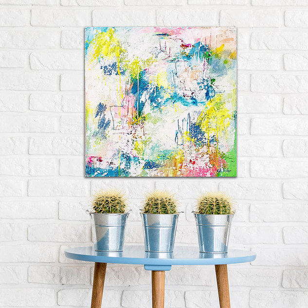 Make a Splash- Palette Knife Abstract Painting
