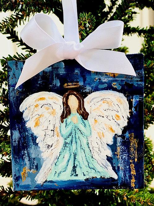 Angel Mini Canvas Ornament
