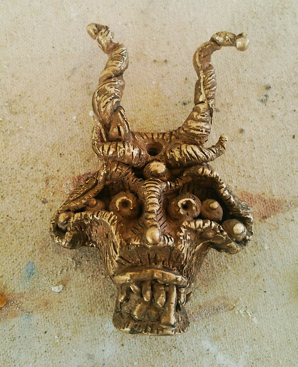 """Dark Side Pendant"" 1.5"" x 3"" bronze casting"