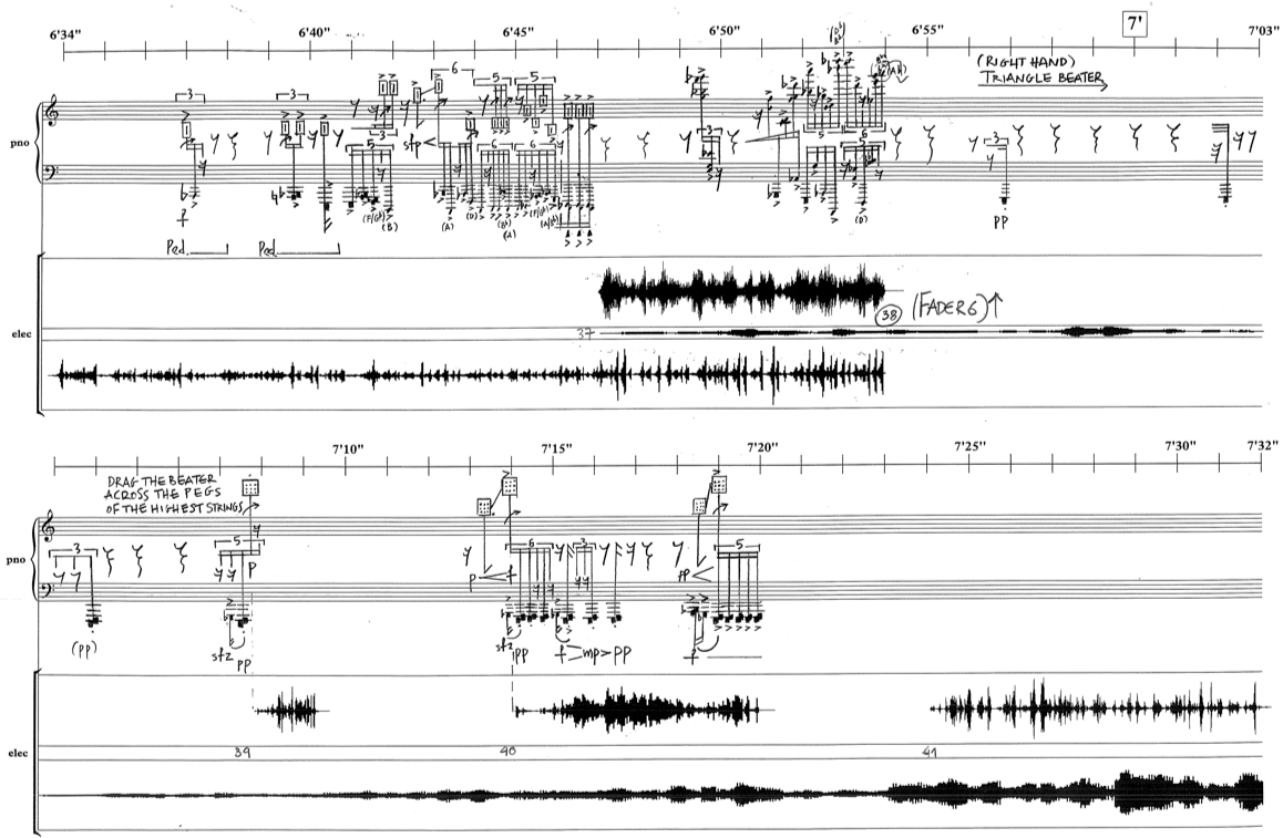 Excerpt page from the score of 'Grit'