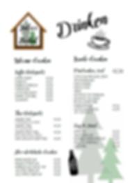 Drankenkaart, Thee, Koffie, Frisdrank, Sap, Bier, Wijn