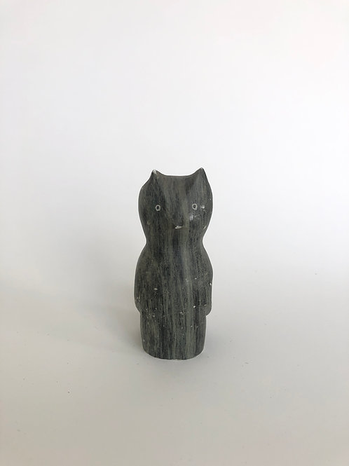 Carved Soapstone Owl