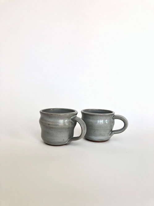 Blue Celadon Mugs, Pair - Barbie Pots