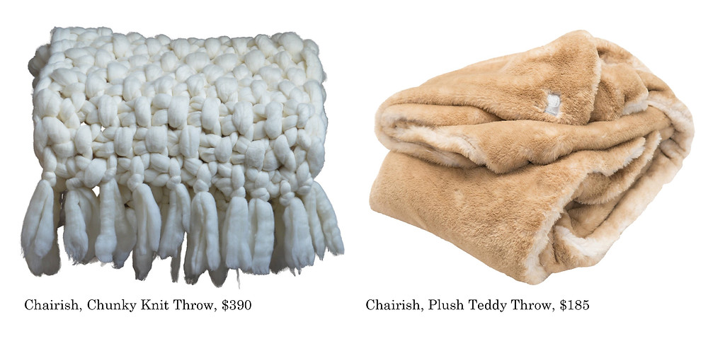 Winter Throws, Holiday Gifts, Barbara Vail Design