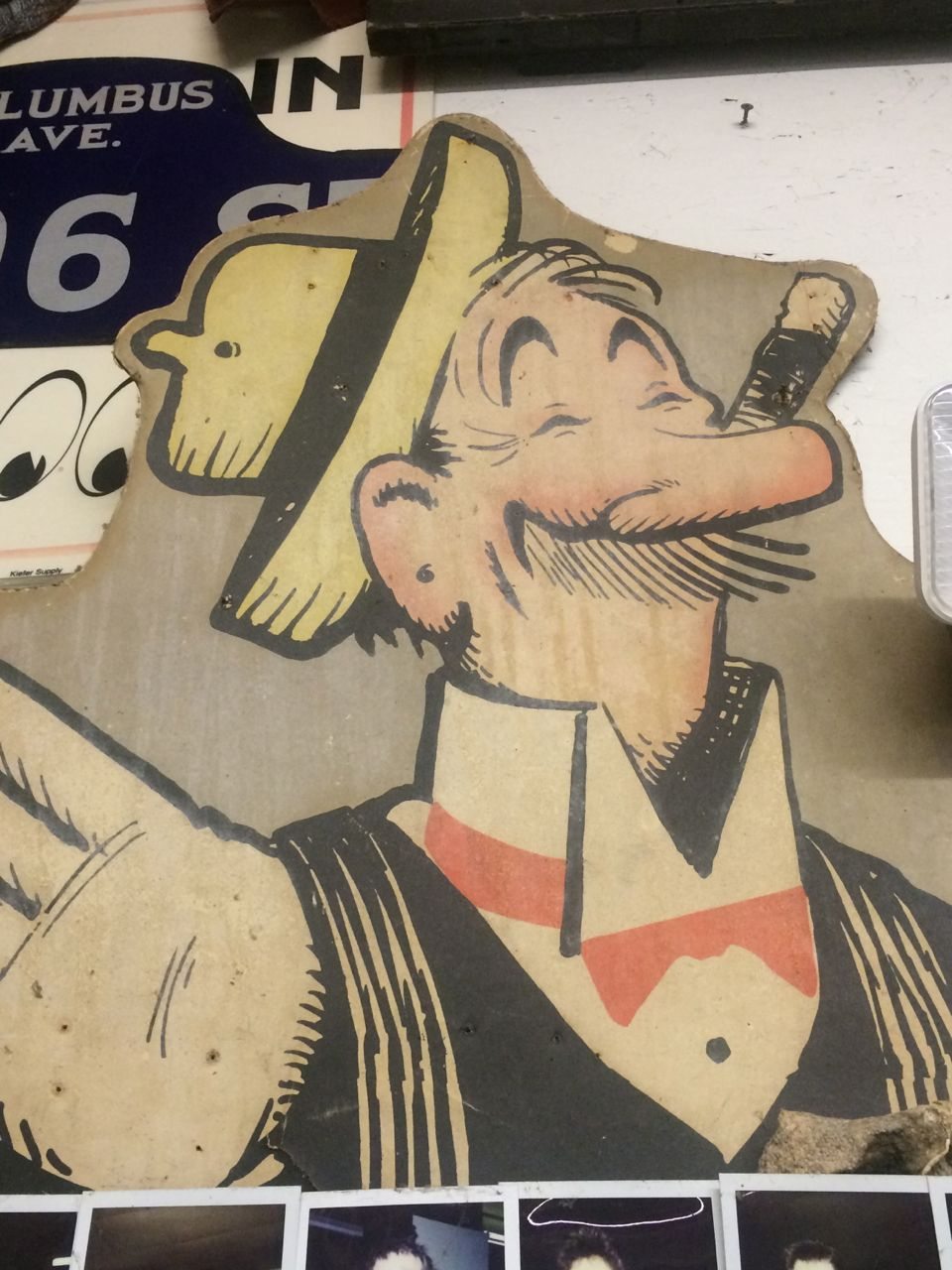 Mutt & Jeff Cartoon Die Cut Signs