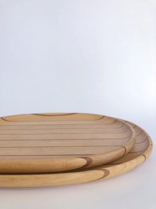 Midcentury Dansk Striped Nesting Trays