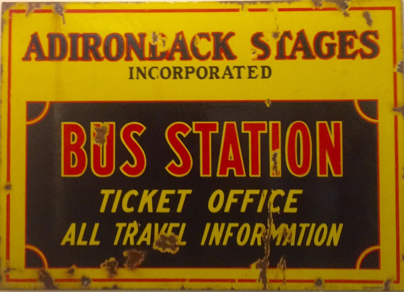 Adirondack Bus Station Sign