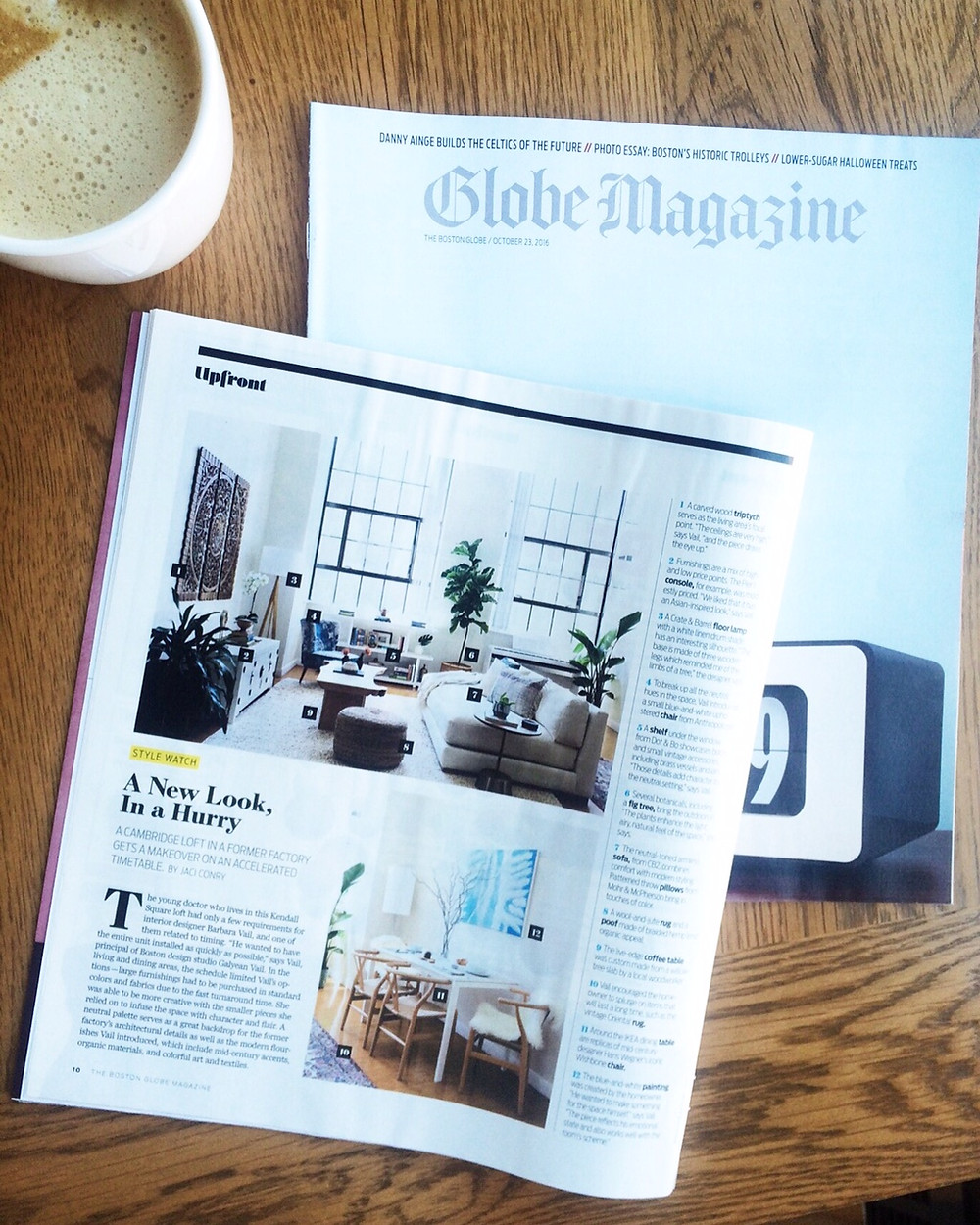 Boston Globe Magazine, Interior Design, Barbara Vail, Loft