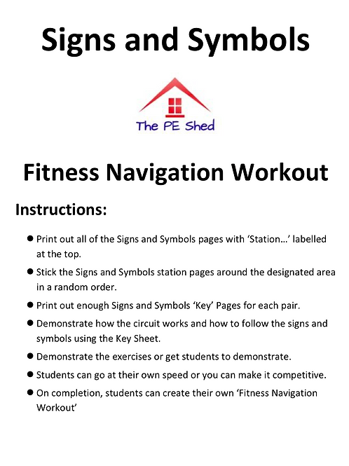 Fitness Navigation Workout