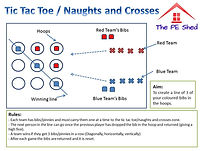 Tic Tac Toe Naughts and Crosses PE Thinking Game