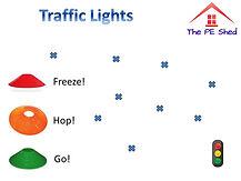 Traffic Lights Warm Up PE Game