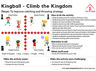 Kingball PE Game - Physical Education Strategy and Coordination Game