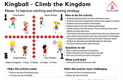 Thinking Strategy PE Games for Physical Education