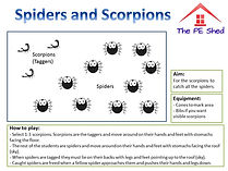 Spiders and Scorpions Tag PE Game
