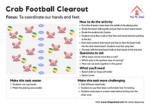 Crab Football Clearout PE Coordination Game