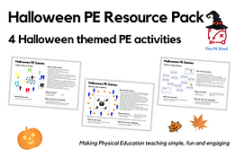 Halloween PE Resource Pack includes Halloween PE Games and Activities to play in Physical Education lessons