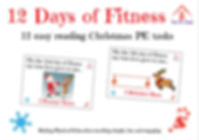 12 Days of Fitness - Christmas Tasks - T