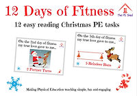 12 days of fitness PE Christmas activity and game