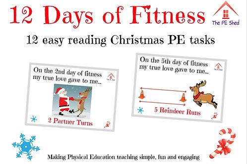 12 days of fitness - Christmas PE Task Cards
