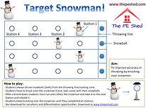Target Snowman Christmas PE Game