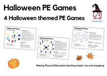 Halloween PE Games is a PE resource pack focused on Halloween themed Physical Education Games