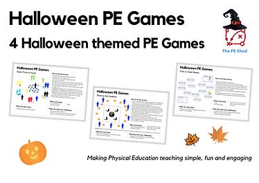 Halloween PE Activities - Front Coverpng
