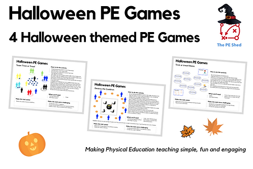 Halloween PE Activities Resource Pack