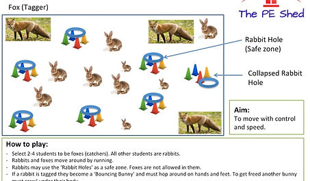 Rabbit Hole Tag PE Game Easter Physical Education