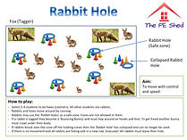 Rabbit Hole Easter PE Tag Game