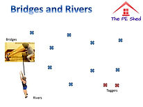 Bridges and Rivers PE Warm Up Game