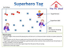 Superhero Tag PE Game