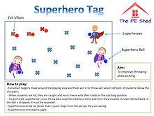 Superhero Tag PE Game