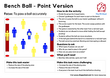 Bench Ball PE Coordination Invasion Game for Physical Education