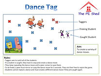 Dance Tag Warm Up PE Game