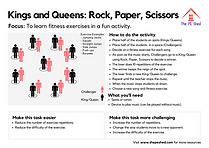 Kings and Queens Rock Paper Scissors is a Warm Up PE Fitness Game