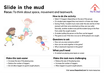 Slide in the mud Warm Up PE Game