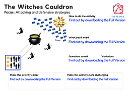 The Witches Cauldron Halloween PE Game and Activity for Physical Educaton lessons