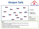 Dragon Tails Warm Up Game