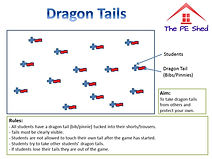 Dragon Tails Warm Up PE Game