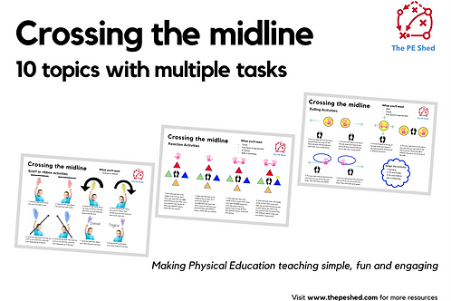 Crossing the midline - Task Cards