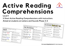 Active Reading Comprehensions for PE lessons. Take English Literacy Reading lessons to PE. Level 1 for Letters and Sounds Phase 3 and 4.