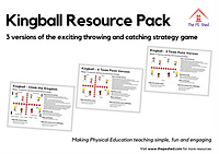 Kingball Resource Pack - An exciting throwing and catching strategy PE game.
