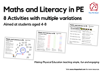Maths and Literacy in PE Resource Pack includes 8 Maths and Literacy activities for Physical Education lessons