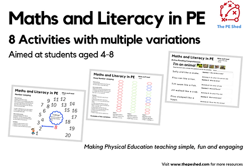 Maths and Literacy in PE - Resource Pack