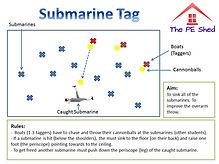 Submarine Tag PE Game