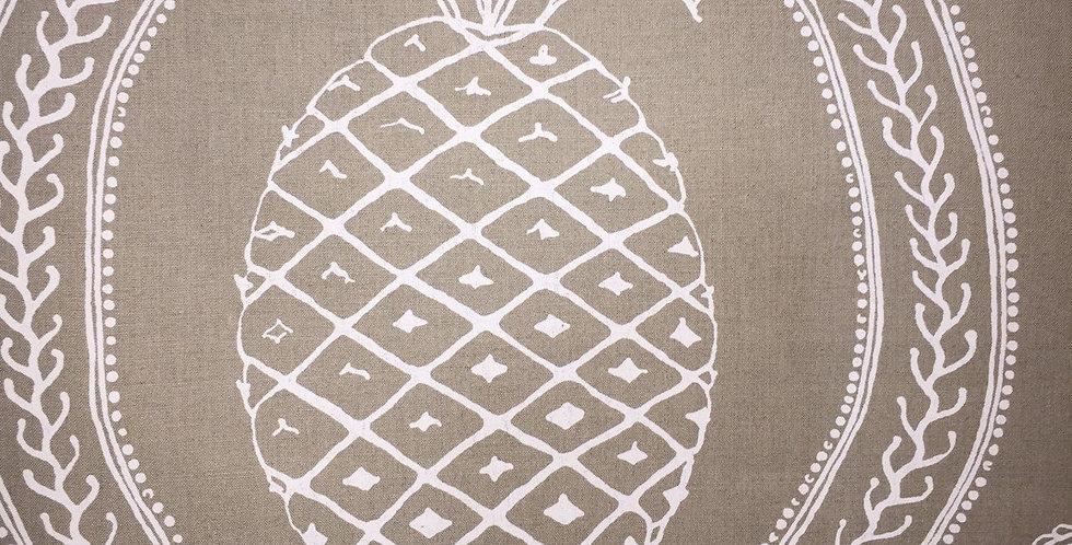 Natural and White Linen Designer Pineapple