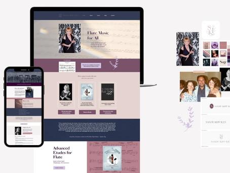 Sandy Kipp Iles: Flutist, Educator, Arranger   Custom Branding and Website Design