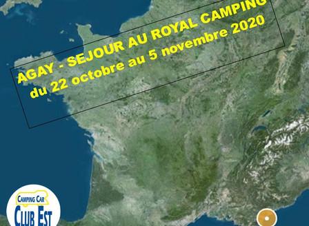 AGAY : Séjour au ROYAL CAMPING du 22 Octobre au 5 Novembre 2020